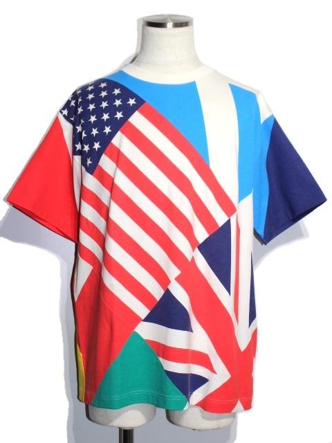 LOUIS VUITTON ルイ・ヴィトン Tシャツ メンズM マルチカラー 国旗 コットン (2148103330933) 【200】