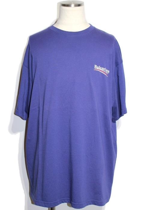 BALENCIAGA バレンシアガ Tシャツ メンズXL パープル コットン 508203TAV44 (2148103292460) 【432】