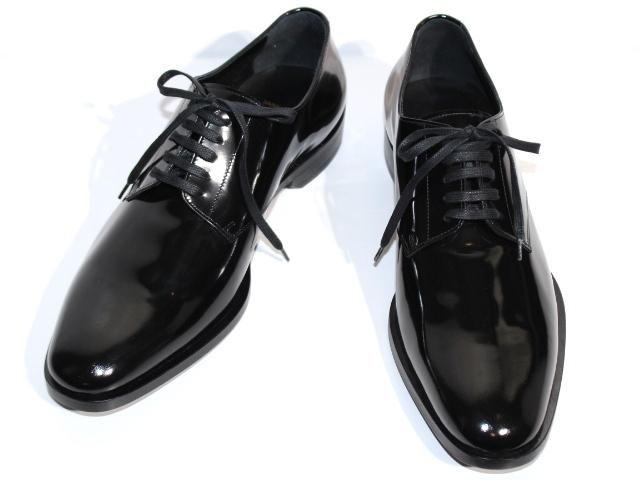 SAINT LAURENT サンローラン 革靴 メンズ43ハーフ 約28.5cm  ブラック パテント (2148103316852) 【200】