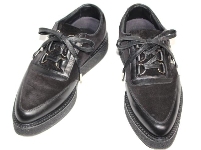 LOUIS VUITTON ルイ・ヴィトン スニーカー 革靴 メンズ6 約25cm 厚底 ブラック スエード レザー (2143100313880) 【200】
