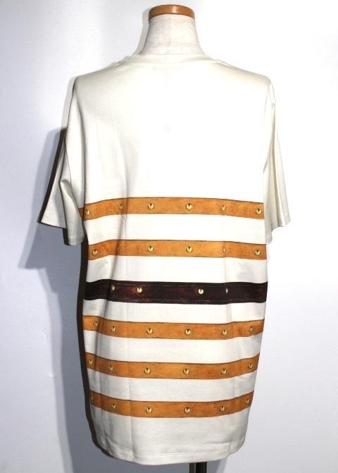 LOUIS VUITTON ルイ・ヴィトン Tシャツ レディースXL 伊勢丹ポップアップ限定 アイボリー コットン RW182 【432】 image number 2