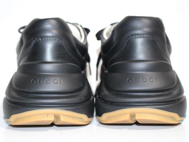 GUCCI グッチ スニーカー メンズ7 約26cm ブラック レザー 523535 (2148103331336) 【200】 image number 4