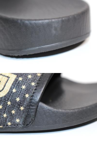 GUCCI グッチ サンダル メンズ6 約25cm ブラック PVC ラバー 519982 (2148103335365) 【200】 image number 6