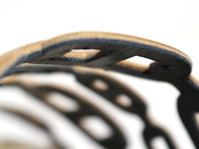 HERMES エルメス サンダル アンコーヌ レディース35 約22cm エスパドリーユ ゴールド レザー (2148103331497) 【200】 image number 7