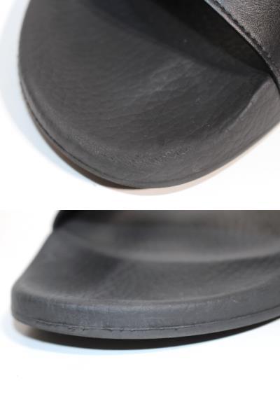 GUCCI グッチ サンダル メンズ8 約27cm ブラック ラバー 536814 (2148103335631) 【200】 image number 7