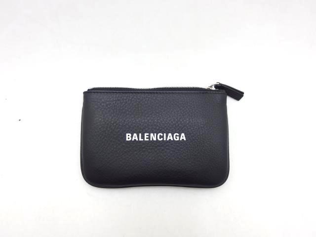 BALENCIAGA バレンシアガ エブリデイ コインケース ブラック レザー【460】