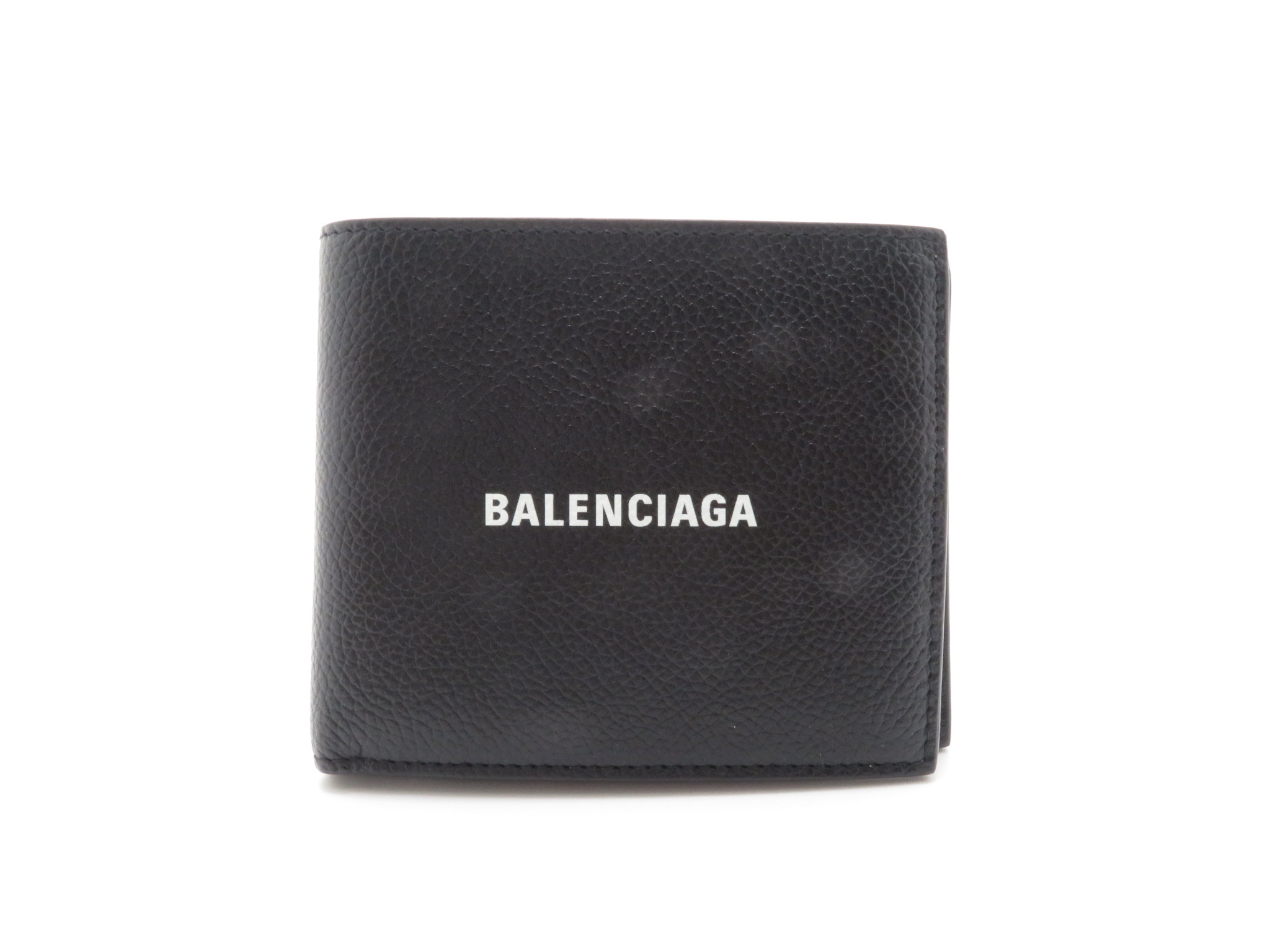 BALENCIAGA  バレンシアガ キャッシュスクエアウォレット 二つ折り財布 ブラック カーフ 594315【431】