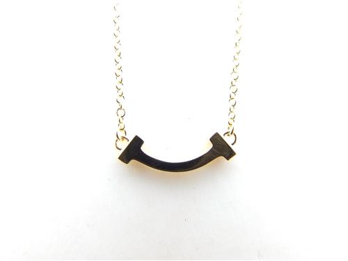 TIFFANY&CO ティファニー 貴金属・宝石 ネックレス Tスマイルミニ ネックレス イエローゴールド 2.4g 【431】