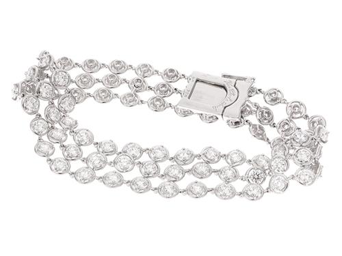 Van Cleef & Arpels ヴァンクリーフ & アーペル パルミル ブレスレット K18 WG ホワイトゴールド ダイヤモンド 24.8g 【430】