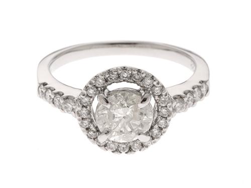 JEWELRY ノンブランドジュエリー リング 指輪 PT900 プラチナ ダイヤモンド 1.016ct/0.33ct 13号 ソーティング付【460】