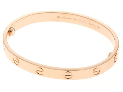 Cartier カルティエ 貴金属・宝石 ラブ ブレスレット PG ピンクゴルード 約29.6g/#16【430】