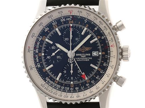 BREITLING ブライトリング 時計 ナビタイマー ワールドクロノグラフ A2432212/B726 メンズ オートマチック ステンレス ラバー(2147200326092)【430】