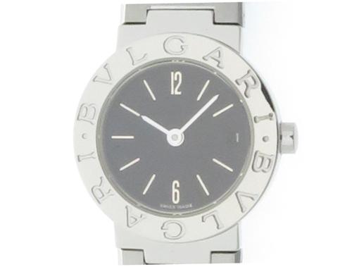 BVLGARI ブルガリ ブルガリ BB23SSD ブラック文字盤 SS ステンレス クオーツ 日付表示 旧型 レディースウォッチ 時計【432】
