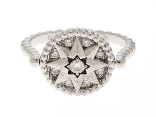 Dior ディオール 貴金属・宝石 リング ローズデヴァンR WG ホワイトゴールド D ダイヤモンド 5.5g 52号【432】