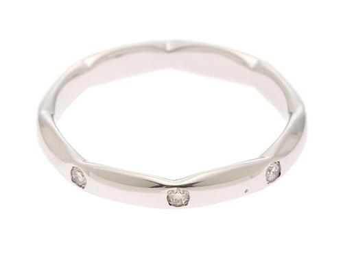 STAR JEWELRY スタージュエリー プラチナ ダイヤモンド リング PT950 D0.11 3.0g 8号【410】2147200327051