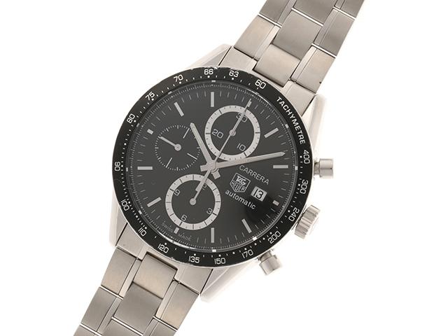 TAG HEUER タグ・ホイヤー  時計 カレラクロノグラフ・キャリバー16 CV2010 自動巻き ブラック 【437】