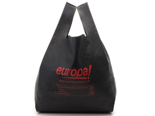BALENCIAGA バレンシアガ スーパーマーケット トートバッグ グレー/レッド レザー 506781 【472】JH