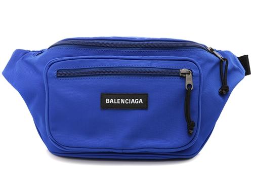 BALENCIAGA バレンシアガ エクスプローラー ベルトバッグ 482389 ウエストバッグ ナイロンキャンバス  ブルー 【436】