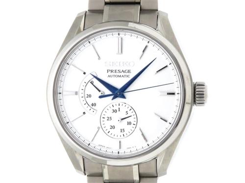 SEIKO セイコー 時計 プレサージュチタン オートマチック SARW041 ホワイト文字盤 TI チタニウム (2143000467522)【200】