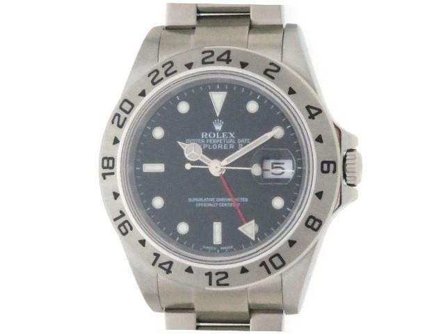 【Y番 2003年9月 正規】ROLEX ロレックス エクスプローラーII 16570 ブラック文字盤 自動巻き 日付表示 旧型 メンズウォッチ 時計【204】