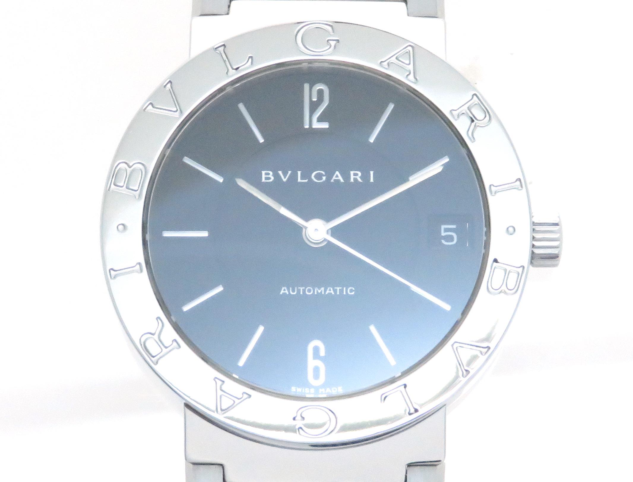 BVLGARI ブルガリ ブルガリブルガリ BB33SS 自動巻き ブラック文字盤 ステンレススチール ボーイズサイズ 【205】