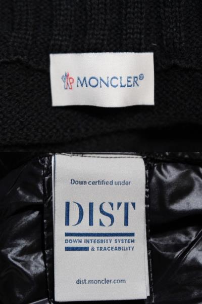 MONCLER  モンクレール ブルゾン ダウンジャケット メンズM CARDIGAN TRICOT ブラック ナイロン ウール 2021年 (2148103388477) image number 9