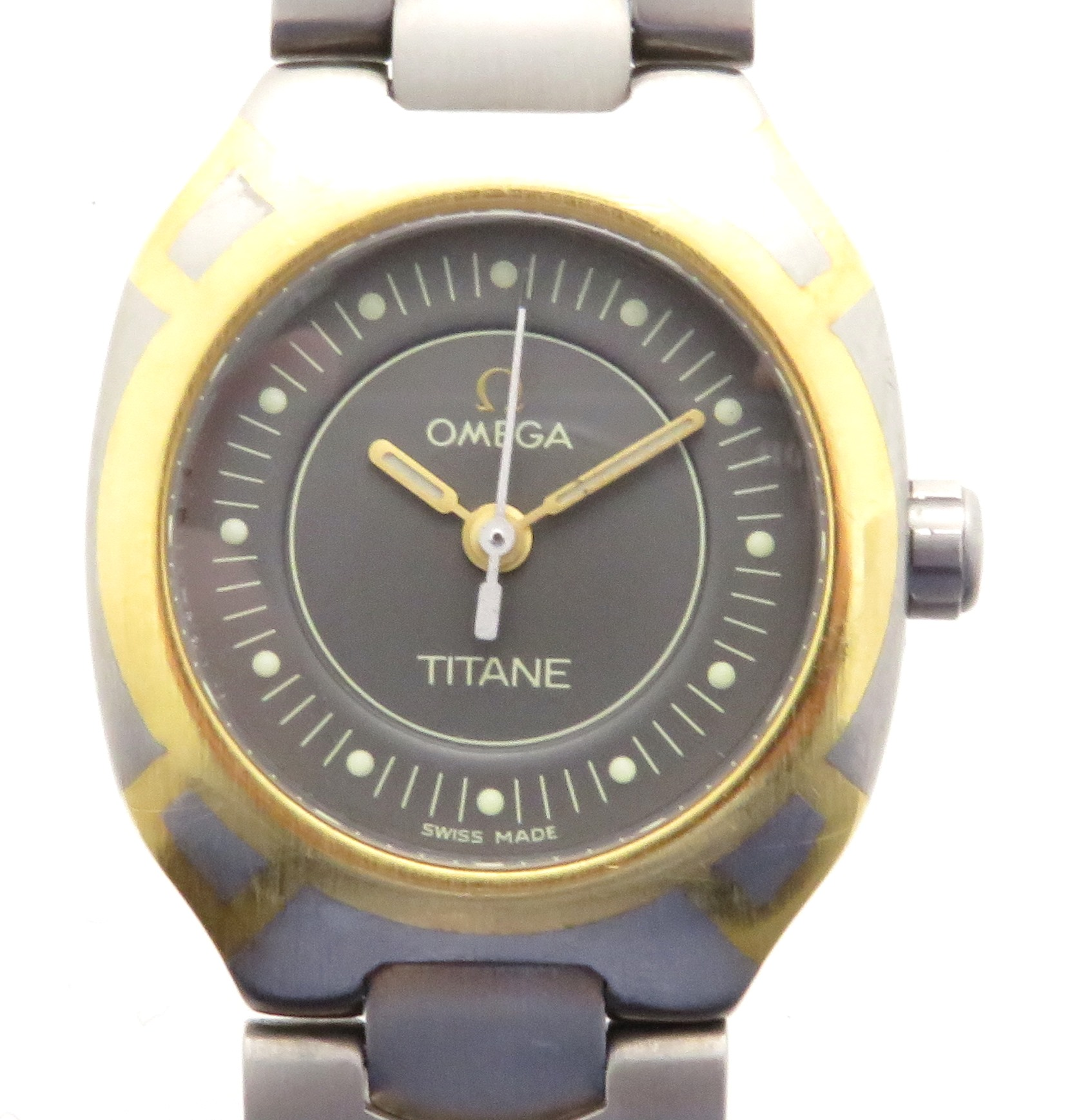 OMEGA オメガ シーマスター・ポラリス チタン クオーツ レディース腕時計 【432】