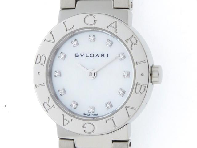 BVLGARI ブルガリ ブルガリブルガリ BB23SS ホワイトシェル 12Pダイヤ レディース クオーツ ステンレス SS (2148103288289) 【434】