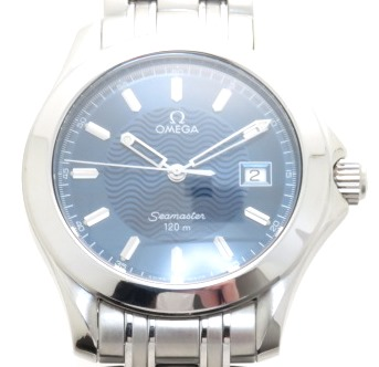OMEGA オメガ シーマスター120m 2511.81 クオーツ ステンレススチール メンズ腕時計 【432】