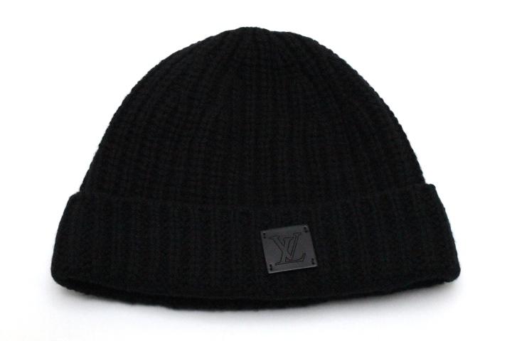 LOUIS VUITTON ルイ・ヴィトン ニット帽 ボネ・LV カシミヤ ノワール M76045 【472】 NA