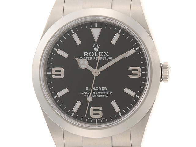 2020年6月 ROLEX ロレックス 時計 エクスプローラー1 214270 SS ステンレス 黒文字盤 ブラック 自動巻き オートマチック (2120000177316) 【200】