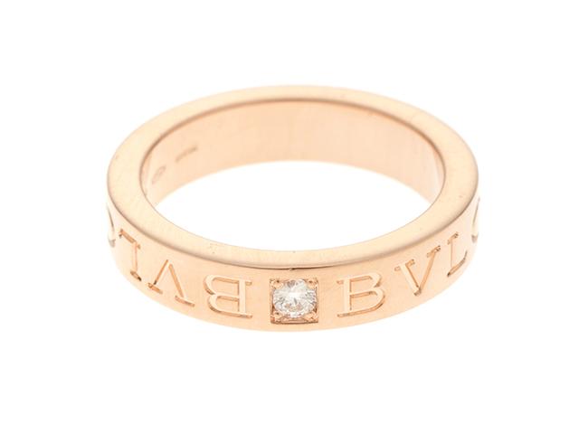 BVLGARI ブルガリ ブルガリブルガリ リング 指輪 PG ピンクゴールド 1P ダイヤモンド 9.5号 【460】