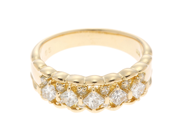 JEWELRY ノンブランドジュエリー リング イエローゴールド K18 ダイヤモンド0.65ct 11号【430】2143100333000 image number 0