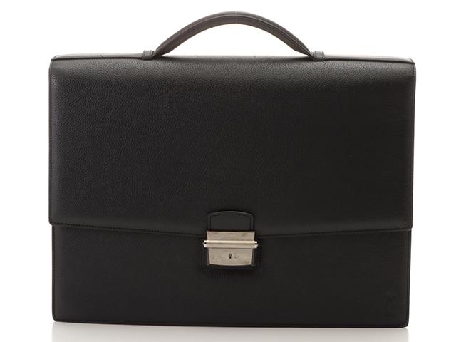 Cartier カルティエ  パシャ ブリーフケース ブラック カーフ C3000698【431】