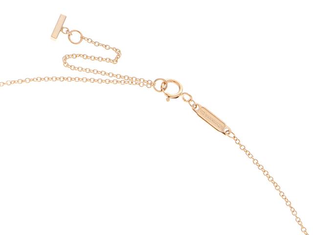 TIFFANY&CO ティファニー 貴金属・宝石 Tスマイルネックレス ミニ K18PG(ピンクゴールド)D(ダイヤモンド) 2.2g 【437】 image number 3