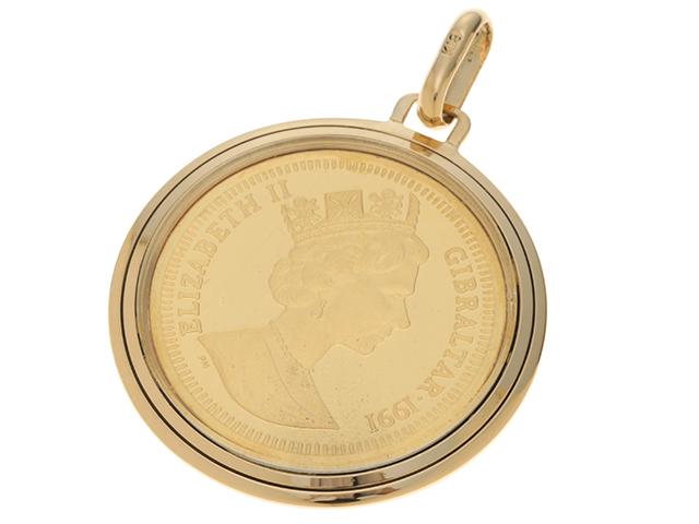 JEWELRY ノンブランド イエローゴールド コイン トップ K24 K18 11.7g【436】