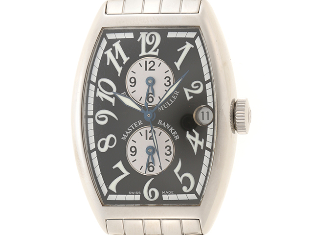 FRANCK MULLER フランクミュラー 時計 マスターバンカー 5850MB ブラック文字盤 メンズ ステンレス 自動巻き【436】2143700128464