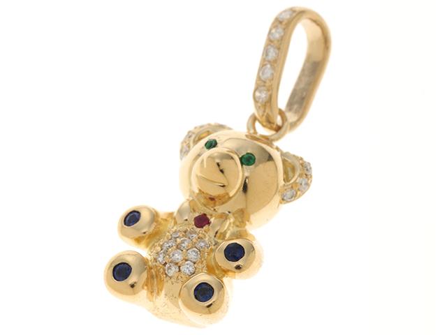 Jewelry ジュエリー ペンダントトップ 貴金属 宝石 K18 マルチカラー 12.6g