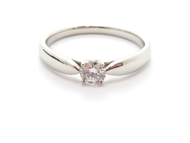 TIFFANY&CO ティファニー リング 指輪 ハーモニーリング PT950 ダイヤモンド0.20ct 11.5号 3.3g 【473】YI