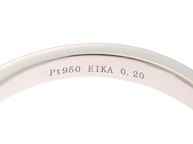 EIKA エイカ プラチナ950/ダイア0.20ct/約4.1g/約8号 【472】KS image number 2