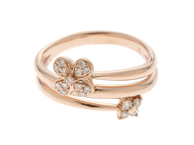 Ponte Vecchio   ポンテヴェキオ    リング  指輪 K18PG  ピンクゴールド ダイヤモンド D0.20ct  14号【410】2147100017717