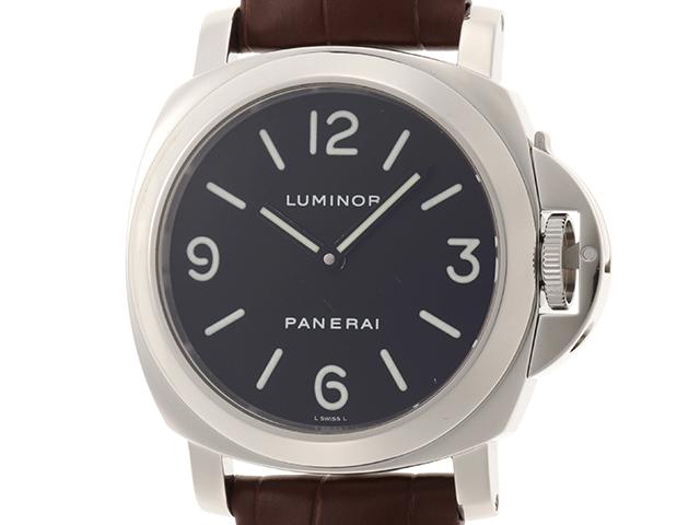 PANERAI パネライ 時計 ルミノール ベース  PAM00112 ブラック文字盤 手巻き メンズ時計 ステンレス/革 SS/革 2147100356564【432】
