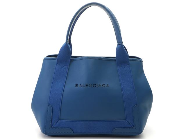 BALENCIAGA バレンシアガ バッグ ハンドバッグ ネイビーカバS ブルー カーフ 339933 【436】