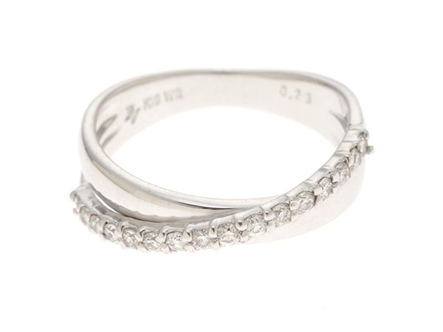 Ponte Vecchio ポンデヴェキオ リング 指輪 K18ホワイトゴールド Dダイヤモンド0.23ct 3.8g #9 【435】