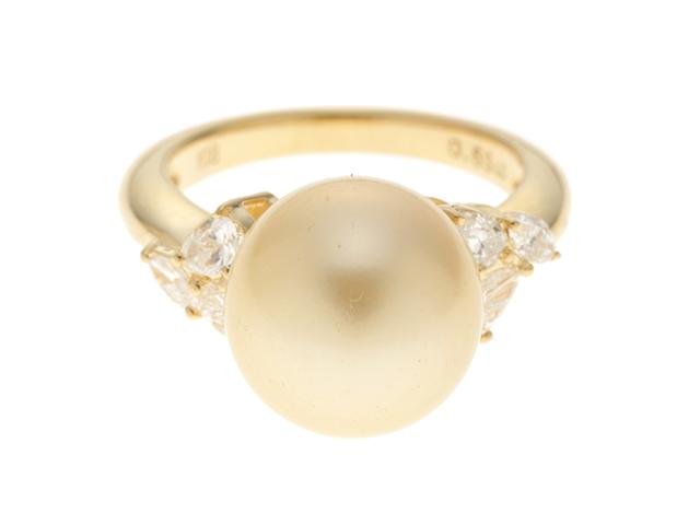 JEWELRY ノンブランドジュエリー  指輪 リング K18 イエローゴールド ゴールドパール ダイヤモンド D0.53ct  10.5号 【430】2147300279526 image number 0