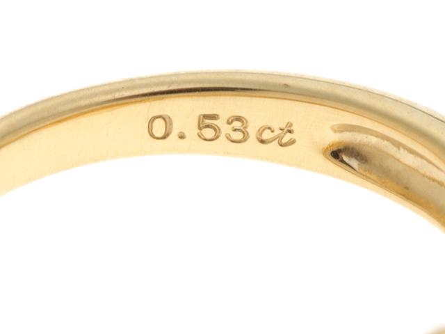 JEWELRY ノンブランドジュエリー  指輪 リング K18 イエローゴールド ゴールドパール ダイヤモンド D0.53ct  10.5号 【430】2147300279526 image number 2