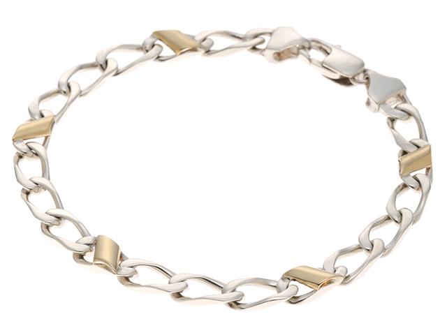 TIFFANY & CO ティファニー 貴金属・宝石 デザインブレスレット シルバー イエローゴールド 11.3g 【432】2147300283424