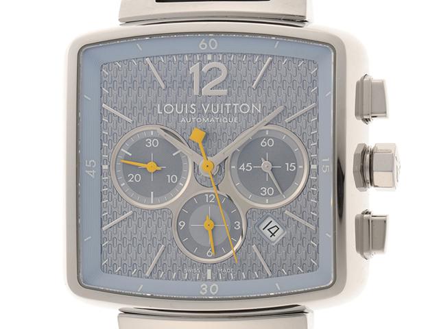 LOUIS VUITTON ルイヴィトン スピーディー クロノ Q2121 メンズ 自動巻き ステンレス 革 【430】