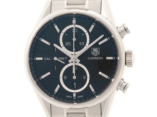 TAG HEUER タグホイヤー 時計 メンズ オートマチック カレラクロノ キャリバー1887 CAR2110.BA0720 ブラック文字盤 ステンレス【472】HU