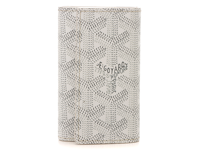 GOYARD ゴヤール 6連キーケース ヘリボーン柄 PVC(ポリ塩化ビニール)カーフ ホワイト 【472】RKT